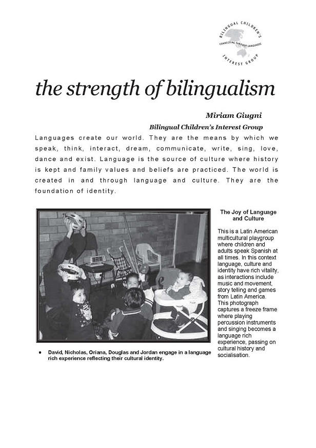 The Strength of Bilingualism-single page