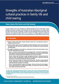 Strengths of Australian Aboriginal cultural practices in family life and child rearing_cover