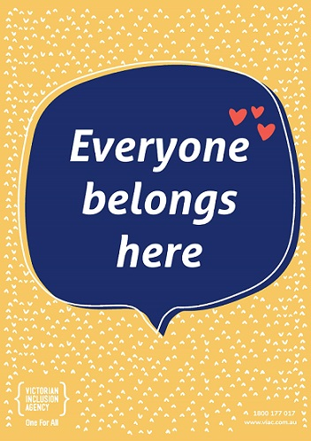 Printable poster saying everyone belongs here